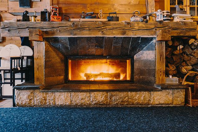 Vintage fire place