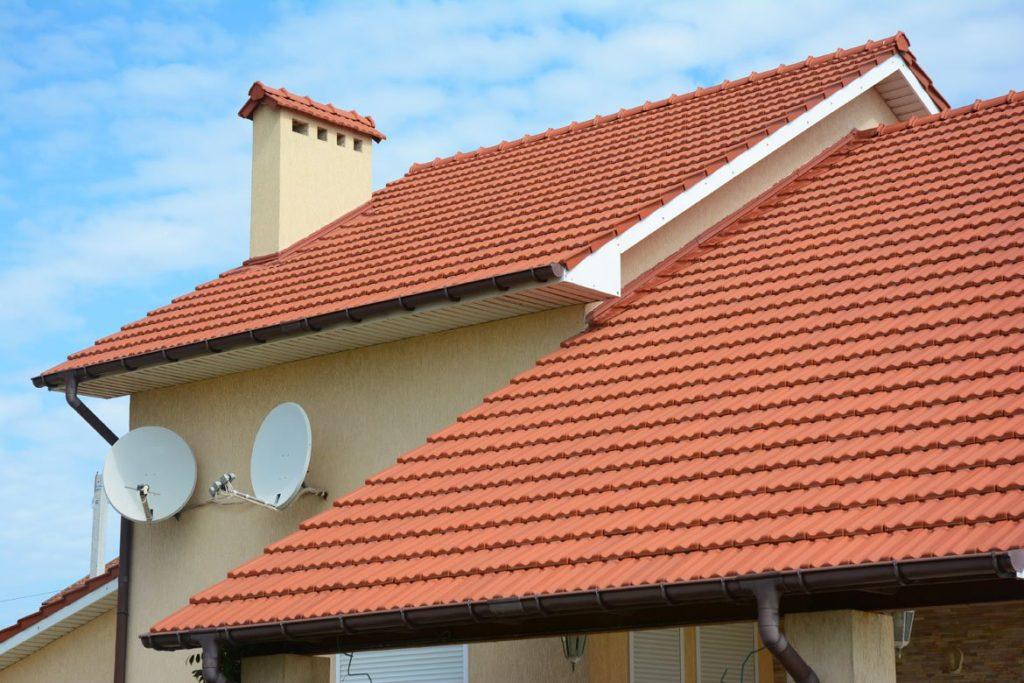 Amazing orange roof shingles