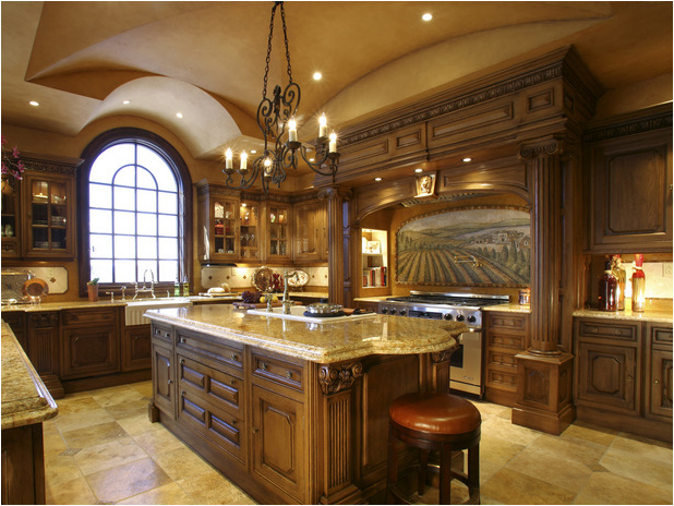 Unbelievable Kitchen remodeling Project. Brown & gold colors designed for space, durability and luxury, In Beverly Hills, CA